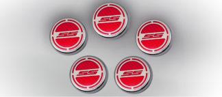 "Cap Cover Set Carbon Fiber ""SS"" Series Automatic 5pc CF Red 2010-2015 Chevrolet Camaro"
