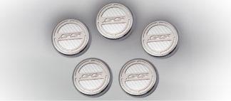 "Cap Cover Set Carbon Fiber ""SS"" Series Automatic 5pc CF White 2010-2015 Chevrolet Camaro"