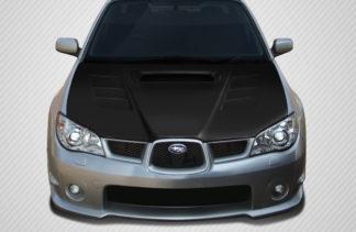 2006-2007 Subaru Impreza WRX STI Carbon Creations GT Concept Hood - 1 Piece