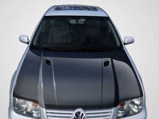 1999-2004 Volkswagen Jetta Carbon Creations RV-S Hood - 1 Piece