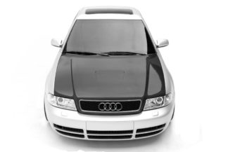 1996-2001 Audi A4 S4 B5 Carbon AF-1 Hood ( CFP ) - 1 Piece