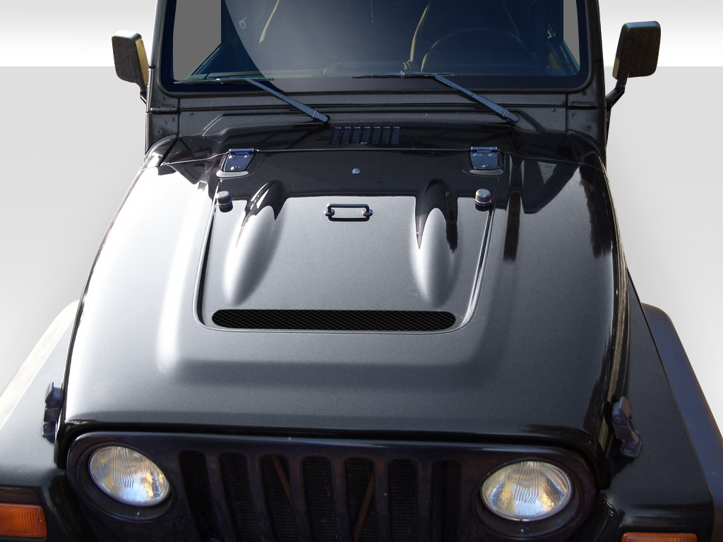 1997 2006 jeep wrangler duraflex heat reduction hood (fits all models without highline fenders) 1 piece 2006 Ford Mustang Hood
