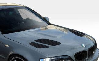 Universal Duraflex GTR Hood Vents Scoops Ducts - 2 Piece