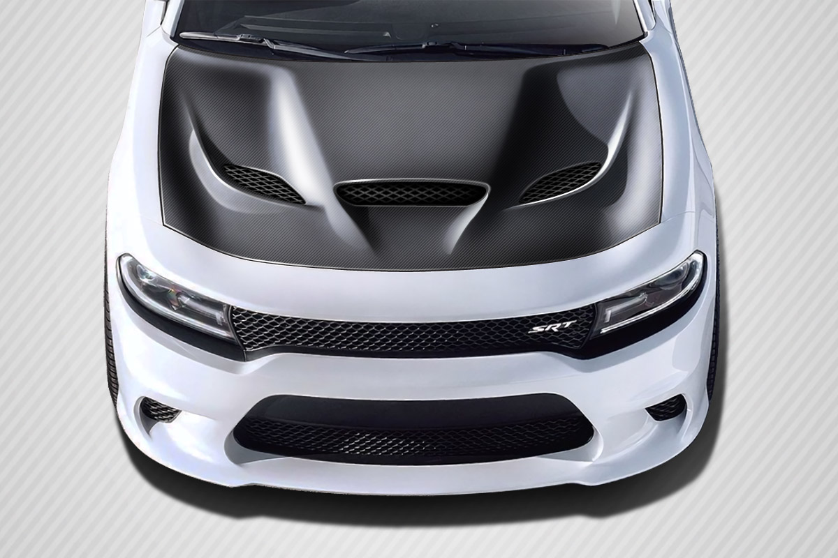 2015 2019 Dodge Charger Carbon Creations Hellcat Look Hood 1 Piece