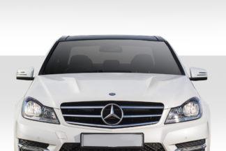 2012-2014 Mercedes C Class W204 Duraflex C63 Look Hood - 1 Piece