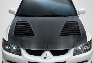 2003-2006 Mitsubishi Lancer Evolution 8 9 Carbon Creations DriTech Track Hood - 1 Piece