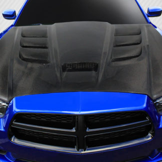 2011-2014 Dodge Charger Carbon Creations DriTech Viper Look Hood - 1 Piece