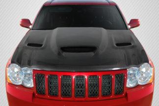 2005-2010 Jeep Grand Cherokee Carbon Creations DriTech Hellcat look Hood - 1 Piece