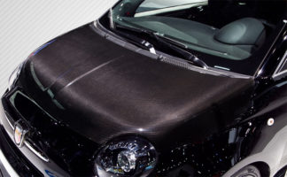 2012-2015 Fiat 500 Carbon Creations DriTech OEM Hood - 1 Piece