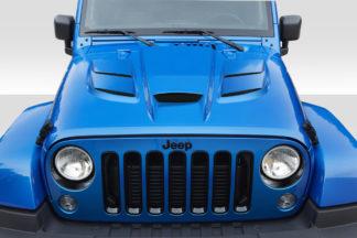 2007-2018 Jeep Wrangler Duraflex Viper Look Hood - 1 Piece