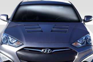 2013-2016 Hyundai Genesis Coupe 2DR Duraflex TS-1 Hood - 1 Piece