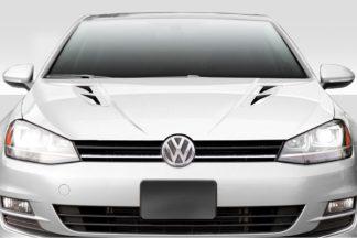 2015-2019 Volkswagen Golf / GTI Duraflex K Design Hood - 1 Piece