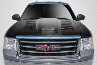2007-2013 GMC Sierra Carbon Creations Viper Look Hood - 1 Piece