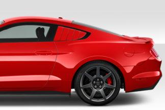 2015-2020 Ford Mustang Duraflex CVX Rear Window Scoops Louvers - 2 Piece (S)