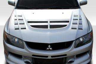 2003-2006 Mitsubishi Lancer Evolution 8 9 Duraflex VT-X Hood - 1 Piece