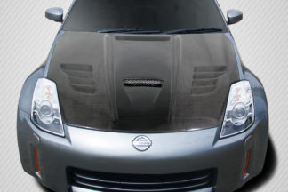 2003-2006 Nissan 350Z Z33 Carbon Creations Vader Hood - 1 Piece