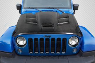 2007-2018 Jeep Wrangler Carbon Creations Viper Look Hood - 1 Piece