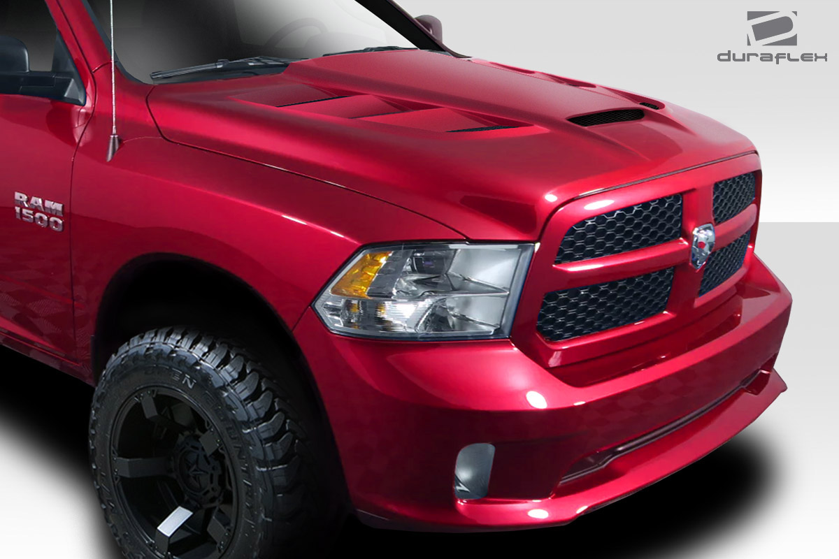Duraflex Replacement for 2009-2018 Dodge Ram 1500 MP-R Hood 1 Piece