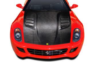 2006-2012 Ferrari 599 Carbon AF-1 Race Hood - 1 Piece ( CFP )