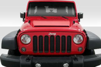 2007-2018 Jeep Wrangler Duraflex Rage Hood - 1 Piece