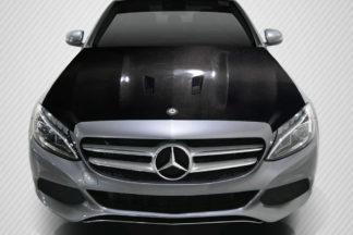 2015-2019 Mercedes C Class W205 Carbon Creations DriTech C63 Look Hood - 1 Piece
