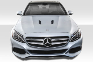 2015-2019 Mercedes C Class W205 Duraflex Black Series Look Hood - 1 Piece