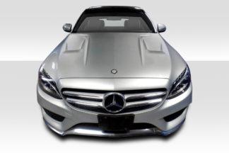2015-2019 Mercedes C Class W205 Duraflex Eros Version 1 Hood - 1 Piece