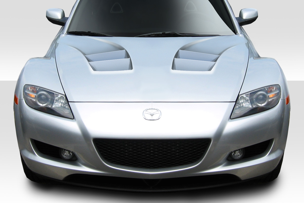 3 Piece Extreme Dimensions Duraflex Replacement for 2010-2013 Mazda 3 M-Speed Hood