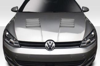 2010-2014 Volkswagen Golf GTI / Jetta Sportwagen Duraflex Vogen Hood - 1 Piece