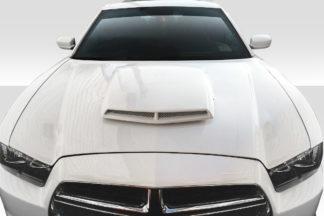 2011-2014 Dodge Charger Duraflex TA Look Hood - 1 Piece