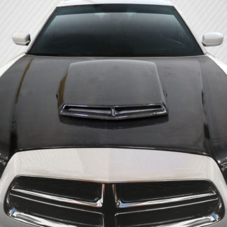 2011-2014 Dodge Charger Carbon Creations TA Look Hood - 1 Piece