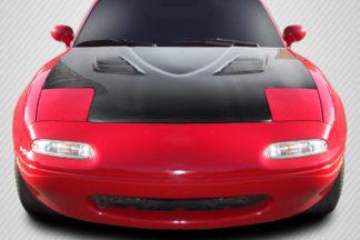 1990-1997 Mazda Miata Carbon Creations DriTech Venom Hood - 1 Piece