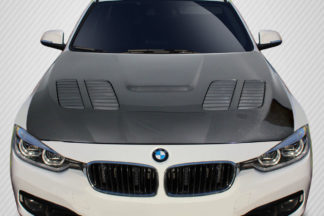 2012-2018 BMW 3 F30 3 Series / 2014-2018 4 Series F32 Carbon Creations GTR Hood - 1 Piece