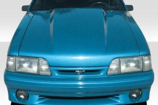 1987-1993 Ford Mustang Duraflex 4 Inch Cowl Hood - 1 Piece