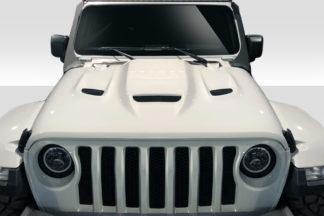 2019-2019 Jeep Wrangler Duraflex Hellcat Look Hood - 1 Piece