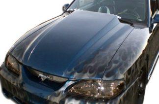 """1994-1998 Ford Mustang Duraflex 3"""" Cowl Hood - 1 Piece"""