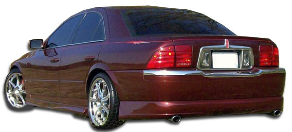 2000-2002 Lincoln LS Duraflex Racer Rear Lip Under Spoiler Air Dam - 1 Piece (Overstock)