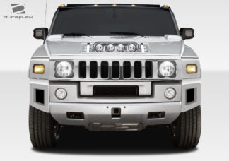 2003-2009 Hummer H2 Duraflex BR-N Front Add On Bumper Extensions - 2 Piece