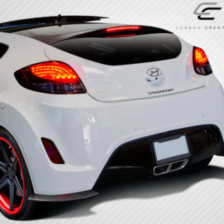 2012-2017 Hyundai Veloster Carbon Creations GT Racing Rear Splitters - 2 Piece (Overstock)