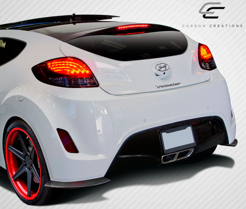 1 Piece Extreme Dimensions Duraflex Replacement for 2012-2017 Hyundai Veloster Turbo GT Racing Front Splitter