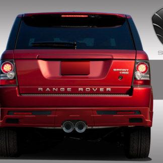2010-2013 Land Rover Range Rover Sport Eros Version 1 Rear Lip Under Spoiler Air Dam ( center exhaust ) - 3 Piece