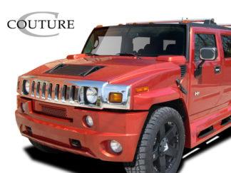 2003-2009 Hummer H2 Couture Urethane Vortex Wide Body Front Bumper - 1 Piece (Overstock)
