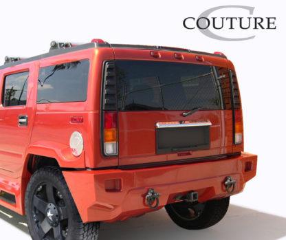 2003-2009 Hummer H2 Couture Urethane Vortex Wide Body Rear Bumper - 1 Piece (Overstock)