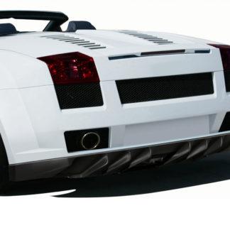 2004-2008 Lamborghini Gallardo AF-1 Wide Body Rear Bumper Cover ( GFK ) - 1 Piece