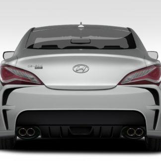 2010-2016 Hyundai Genesis Coupe 2DR Duraflex VG-R Rear Bumper Cover - 1 Piece