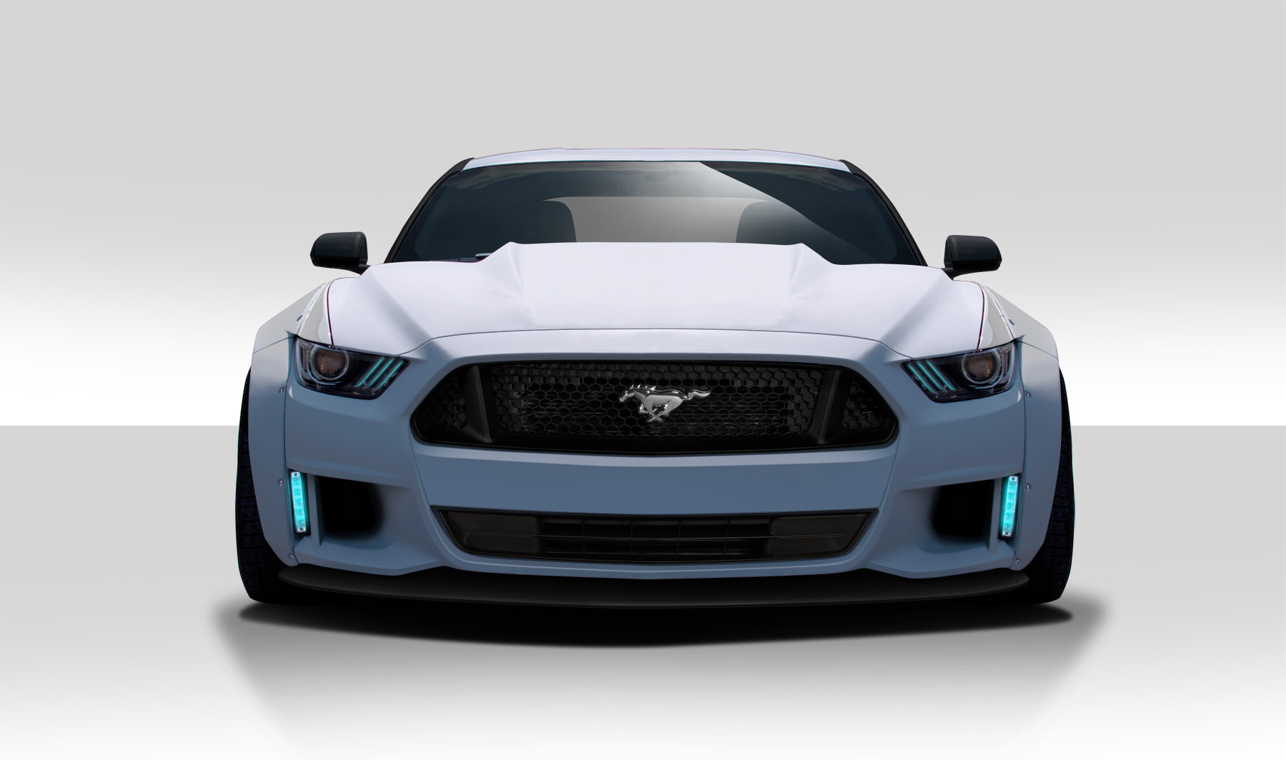 1 Piece Duraflex Replacement for 2010-2012 Ford Mustang Circuit Hood