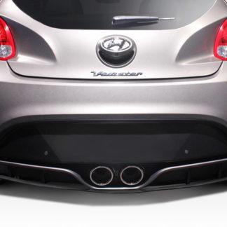 2012-2017 Hyundai Veloster Turbo Duraflex N Design Rear Diffuser- 1 Piece