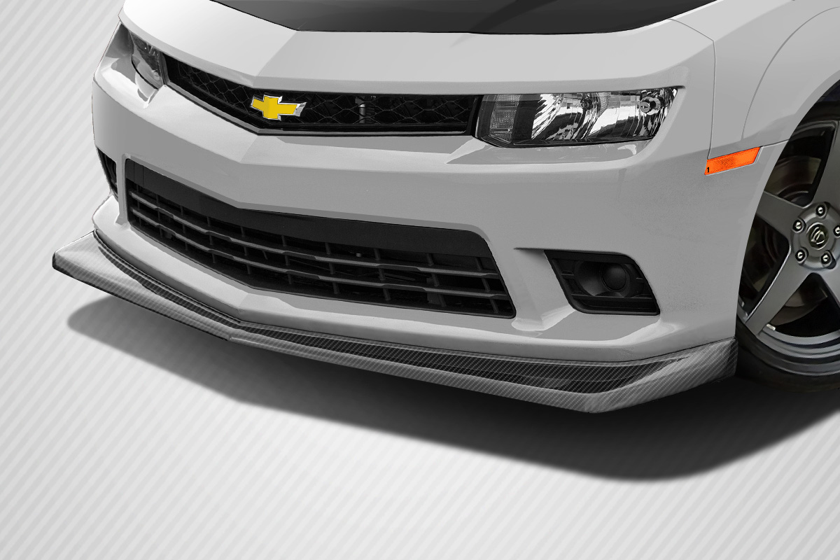 1 Piece Duraflex Replacement for 2014-2015 Chevrolet Camaro Z28 Look Front Lip Under Air Dam Spoiler