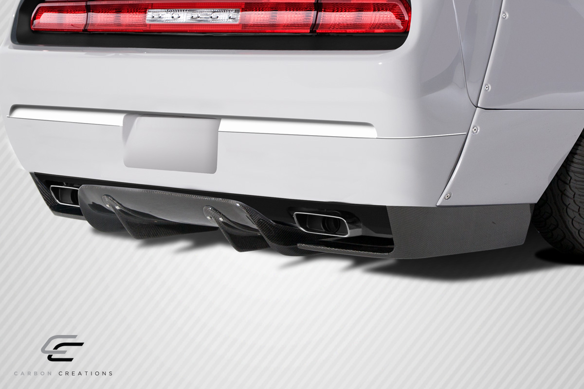 2008 2014 Dodge Challenger Carbon Creations Circuit Rear Diffuser 3 Piece