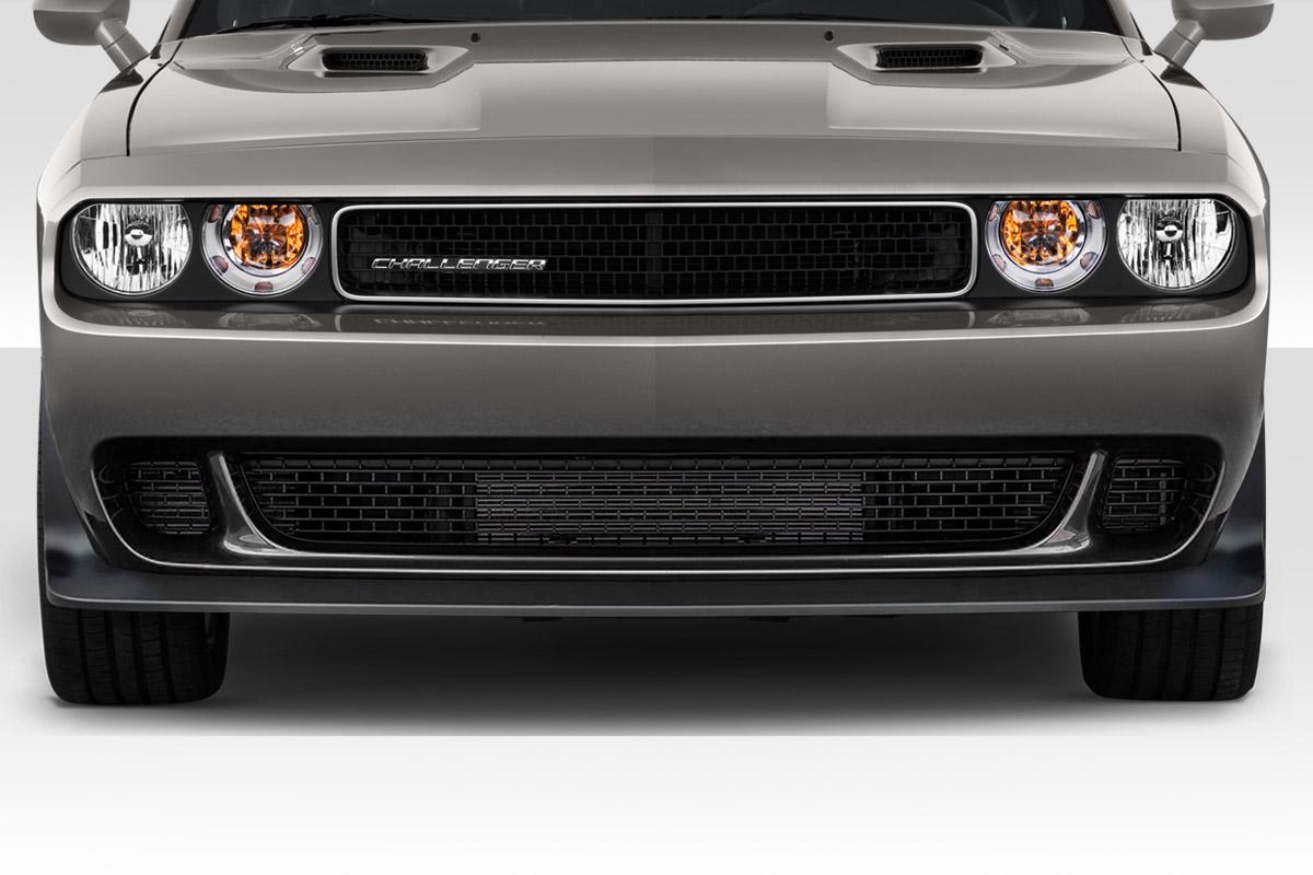 2008 2014 Dodge Challenger Duraflex Hellcat Look Front Bumper 1 Piece